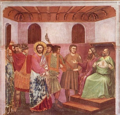 Giotto_-_Scrovegni_-_-32-_-_Christ_before_Caiaphas (1)