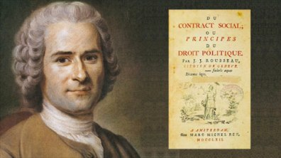 rousseau- Rousseau's monumental work, Of The Social Contract, Or Principles of Political Right