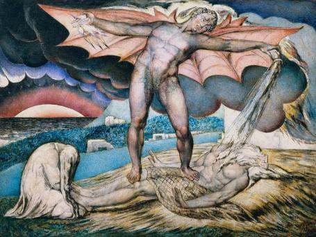 Satan Smiting Job with Sore Boils c.1826 William Blake 1757-1827 Presented by Miss Mary H. Dodge through the Art Fund 1918 http://www.tate.org.uk/art/work/N03340