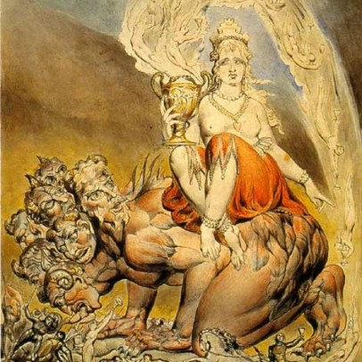 William Blake - Whore of Babylon
