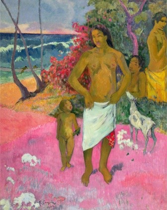 paul-gauguin-a-walk-by-the-sea-1902-1