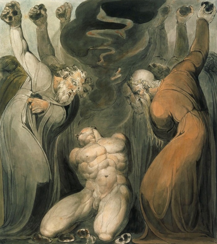The Blasphemer c.1800 William Blake 1757-1827 Bequeathed by Miss Alice G.E. Carthew 1940 http://www.tate.org.uk/art/work/N05195