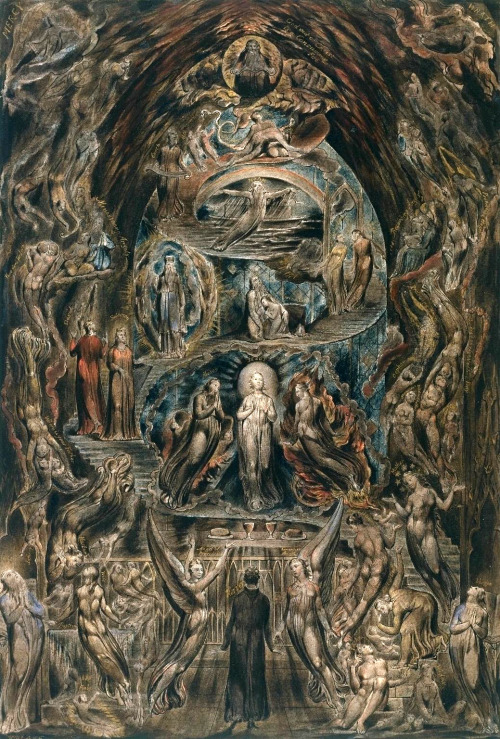 Epitome of James Hervey's 'Meditations among the Tombs' c.1820-5 William Blake 1757-1827 Presented by George Thomas Saul 1878 http://www.tate.org.uk/art/work/N02231