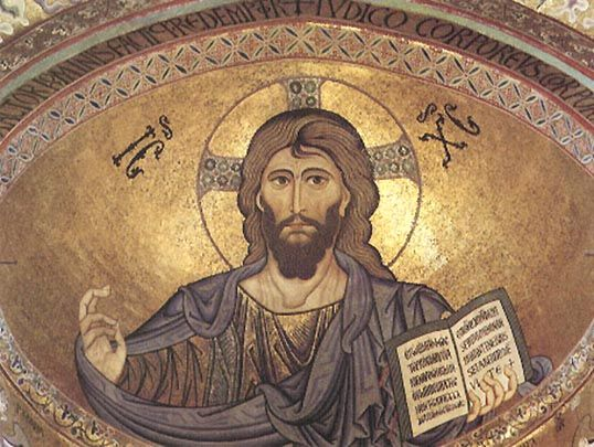 Jesus mosaic in Cefalu Cathedral#1#