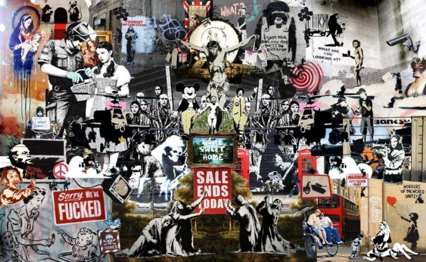 Banksy-artwork-collage